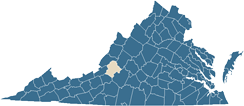Map of Botetourt County